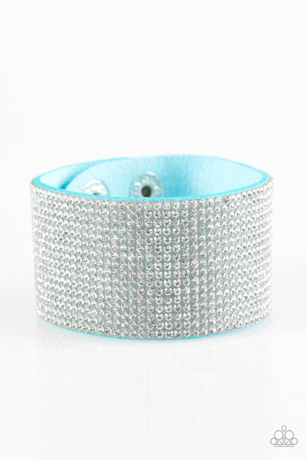 Roll With The Punches Blue Urban Bracelet - Glitzygals5dollarbling Paparazzi Boutique