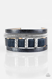 Paparazzi Fame Night Blue Bracelet - Glitzygals5dollarbling Paparazzi Boutique