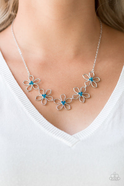 Paparazzi Hoppin Hibiscus - Blue Necklace - Glitzygals5dollarbling Paparazzi Boutique