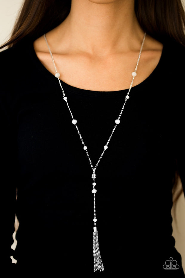 Paparazzi Out All Night - White Necklace - Glitzygals5dollarbling Paparazzi Boutique