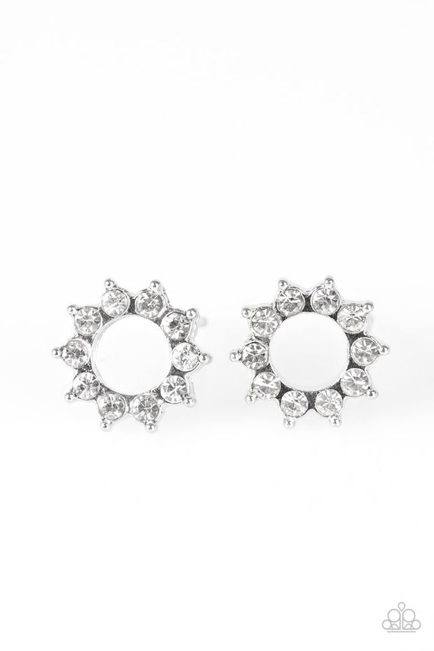 Richly Resplendent - white - Paparazzi earrings - Glitzygals5dollarbling Paparazzi Boutique