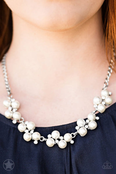 Paparazzi Accessories - Love Story - White Blockbuster Necklace - Glitzygals5dollarbling Paparazzi Boutique