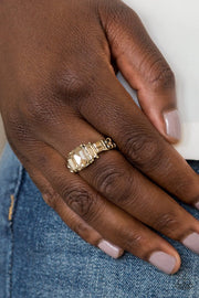 Born to Rule - brass - Paparazzi ring - Glitzygals5dollarbling Paparazzi Boutique