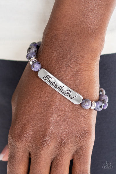 Paparazzi Keep the Trust Purple Inspirational Bracelet - Glitzygals5dollarbling Paparazzi Boutique