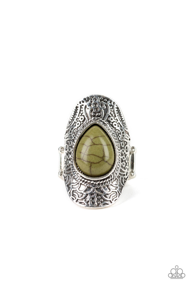 Paparazzi Southern Sage Green Ring - Glitzygals5dollarbling Paparazzi Boutique