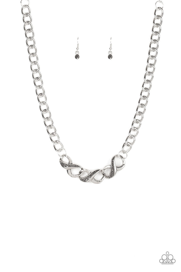 Paparazzi Infinite Impact Silver Hematite Necklace - Glitzygals5dollarbling Paparazzi Boutique
