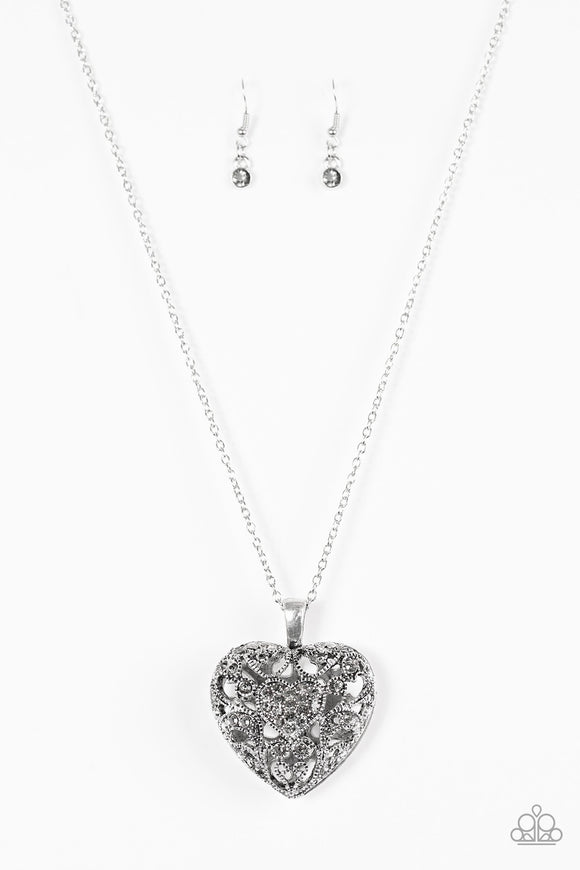 Paparazzi Heartless Heiress Silver Necklace