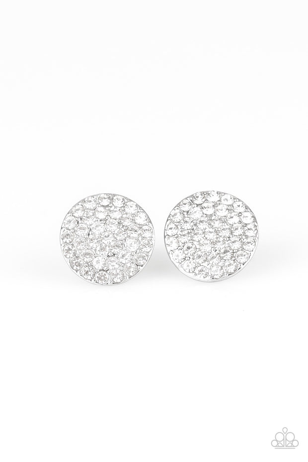 Paparazzi Greatest of All Time White Post Earrings - Glitzygals5dollarbling Paparazzi Boutique