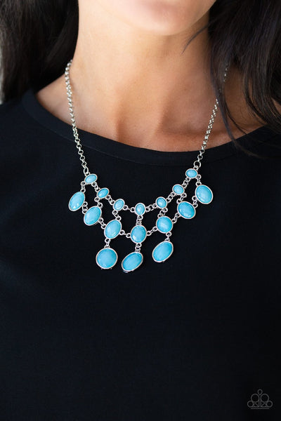 Paparazzi Mermaid Marmalade - Blue Gems - Necklace & Earrings - Glitzygals5dollarbling Paparazzi Boutique