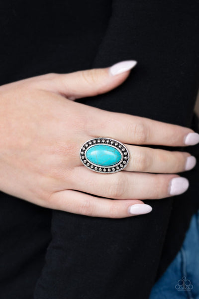 Paparazzi Desert Heat Blue Ring - Glitzygals5dollarbling Paparazzi Boutique