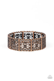 Paparazzi Summer Scandal - Copper Filigree Bracelet