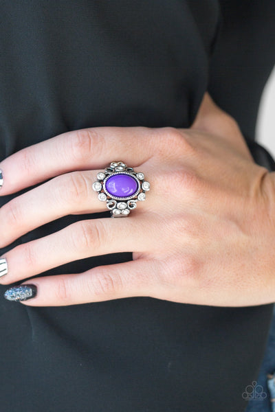 Paparazzi Noticeably Notable - Purple Ring - Glitzygals5dollarbling Paparazzi Boutique