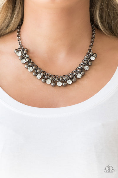 Paparazzi Wall Street Winner Black Necklace - Glitzygals5dollarbling Paparazzi Boutique