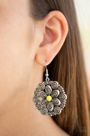 Paparazzi Groove Grove Yellow Earrings