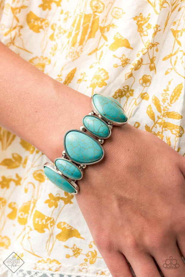 Paparazzi Feel At HOMESTEAD - Blue Fashion Fix Exclusive Bracelet