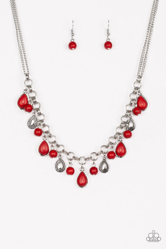 Welcome To Bedrock - Red Necklace