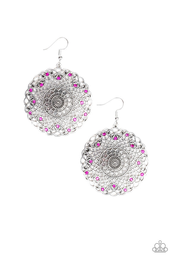 Paparazzi Mandala Mandalay Pink Earrings