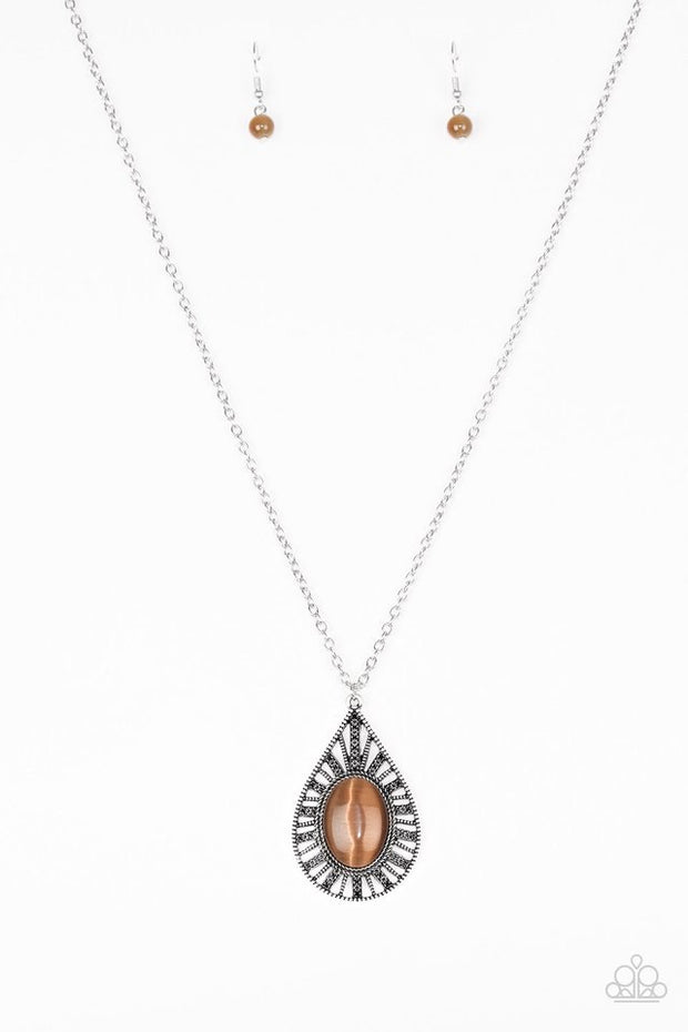 Paparazzi Total Tranquility Brown Necklace - Glitzygals5dollarbling Paparazzi Boutique
