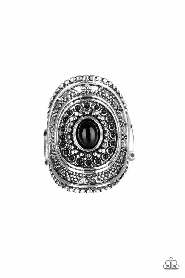 Paparazzi Adventure Venture - Black Ring - Glitzygals5dollarbling Paparazzi Boutique