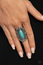 Lotus Oasis - blue - Paparazzi ring - Glitzygals5dollarbling Paparazzi Boutique