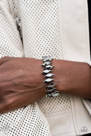Paparazzi Fiercely Fragmented - Silver Fashion Fix Bracelet - Glitzygals5dollarbling Paparazzi Boutique