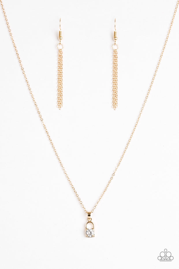 Best of LOCK Gold Paparazzi Necklace - Glitzygals5dollarbling Paparazzi Boutique