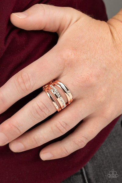 Paparazzi Ring ~ Make A SHEEN - Copper - Glitzygals5dollarbling Paparazzi Boutique