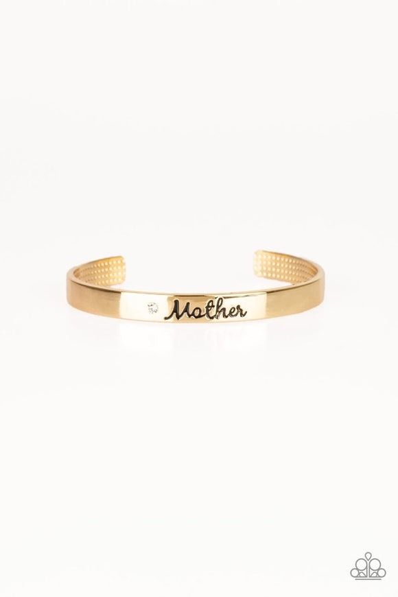 "Paparazzi ""Every Day Is Mother's Day"" Gold Bracelet"