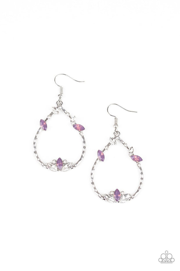 Lotus Ice - purple - Paparazzi earrings