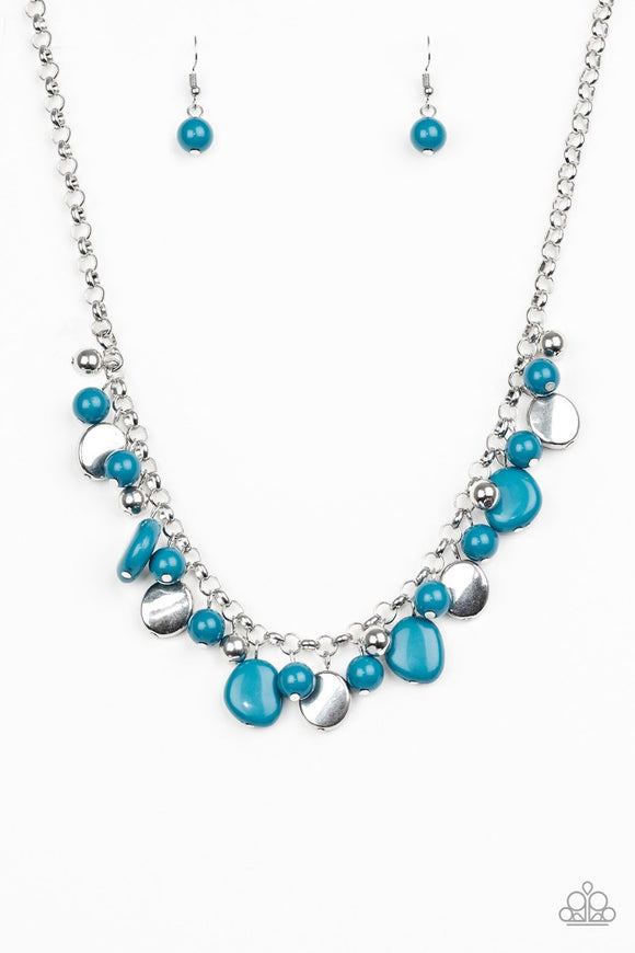 Paparazzi  Flirtatiously Florida - Blue Necklace