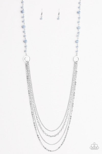 Paparazzi Contemporary Cadence Blue Necklace