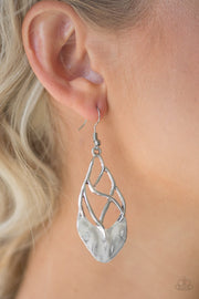 "Paparazzi ""Super Swanky"" Silver Earrings - Glitzygals5dollarbling Paparazzi Boutique"