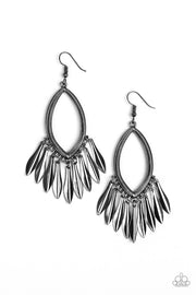 Paparazzi My FLAIR Lady Black Gunmetal Earrings - Glitzygals5dollarbling Paparazzi Boutique