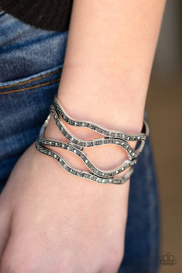 Paparazzi Speaks Volumes - Silver Cuff Bracelet - Glitzygals5dollarbling Paparazzi Boutique