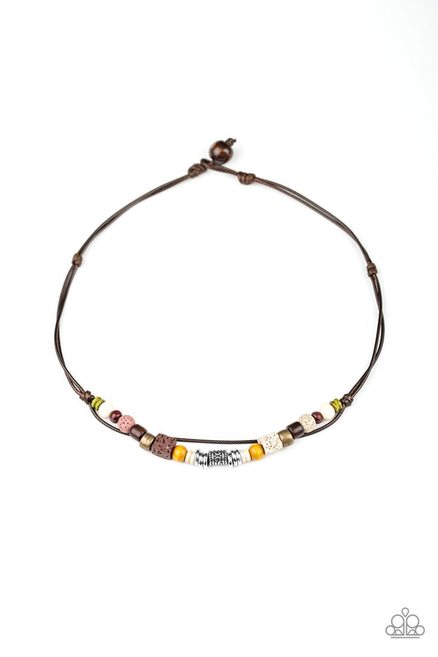 Beach Quest - multi - Paparazzi mens necklace - Glitzygals5dollarbling Paparazzi Boutique