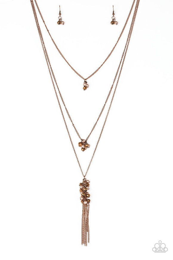 Paparazzi Crystal Cruiser Copper Necklace