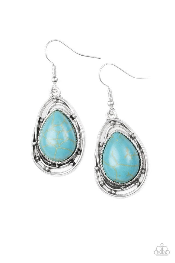 Paparazzi Abstract Anthropology Blue Earrings