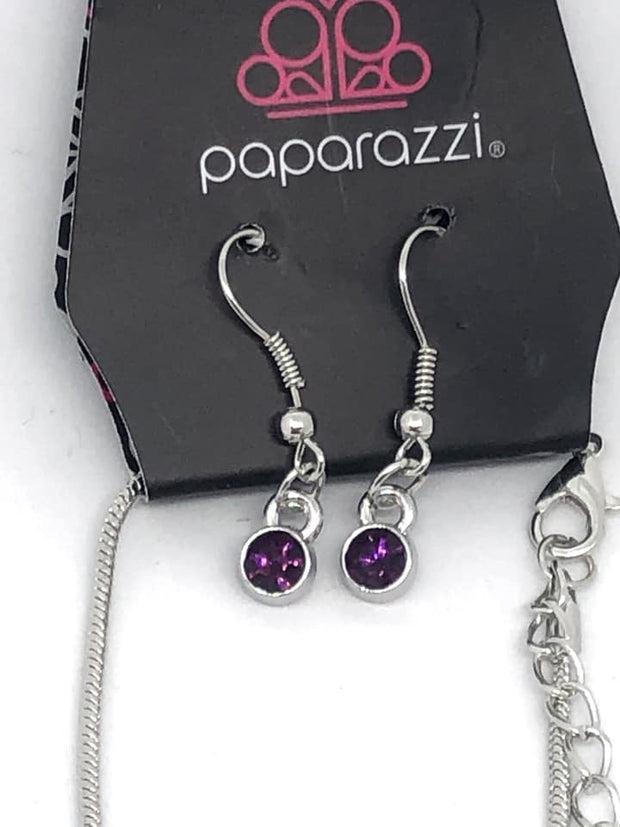 "Paparazzi ""Gather Around Gorgeous"" Purple Exclusive Necklace - Glitzygals5dollarbling Paparazzi Boutique"