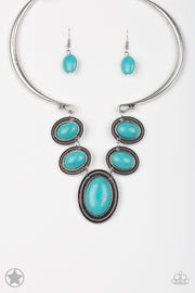 River Ride Blue Necklace Blockbuster - Glitzygals5dollarbling Paparazzi Boutique
