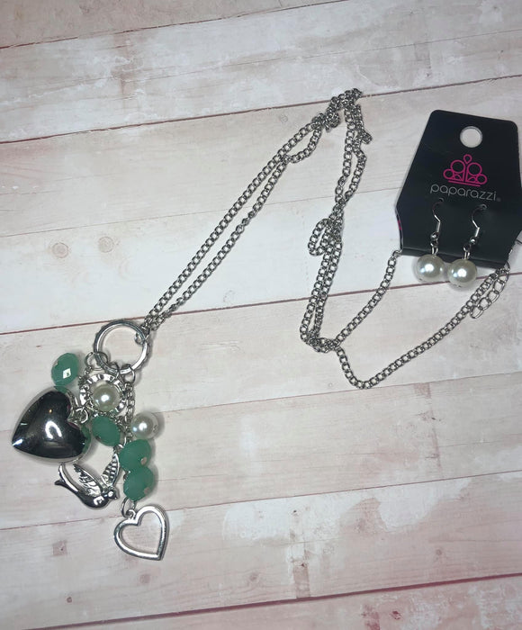 Paparazzi I Will Fly Green Exclusive Necklace