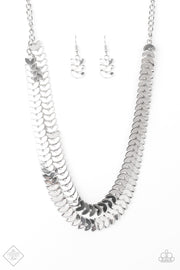 Industrial Illumination Silver Necklace Fashion Fix - Glitzygals5dollarbling Paparazzi Boutique