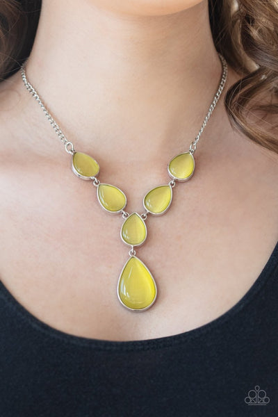 Dewy Decadence - yellow - Paparazzi necklace - Glitzygals5dollarbling Paparazzi Boutique
