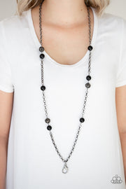 Paparazzi Fashion Fad- Black Lanyard - Glitzygals5dollarbling Paparazzi Boutique