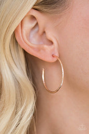 Paparazzi HOOP, Line, and Sinker - Rose Gold - Hoop Earrings - Glitzygals5dollarbling Paparazzi Boutique