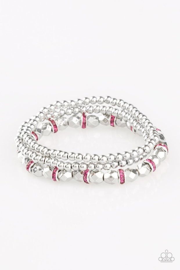 "Paparazzi ""Let There BEAM Light"" Pink Bracelet - Glitzygals5dollarbling Paparazzi Boutique"
