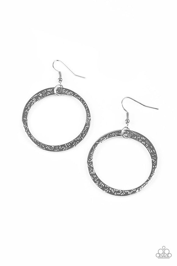 "Paparazzi ""Wildly Wild-lust"" Silver Earrings"