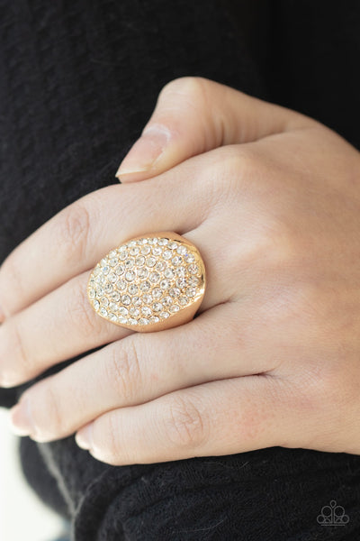 Paparazzi Bling Scene Gold Ring - Glitzygals5dollarbling Paparazzi Boutique