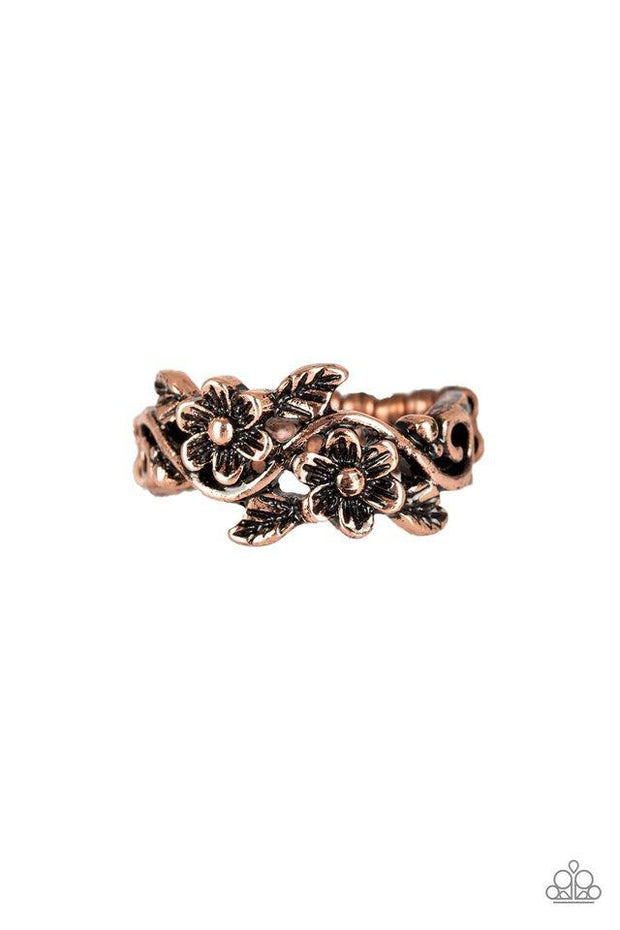 Paparazzi Ring ~ Stop and Smell The Flowers - Copper - Glitzygals5dollarbling Paparazzi Boutique