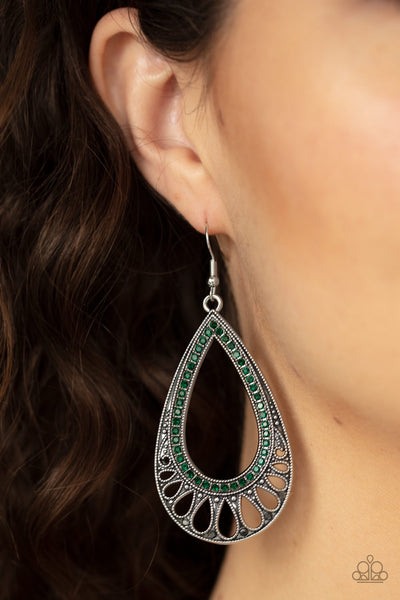 Paparazzi Royal Finesse Green Earrings