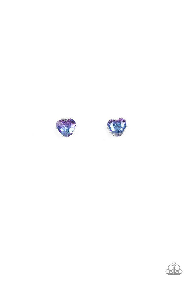 Paparazzi Kids Starlet Shimmer Post Heart Iridescent Earrings - Glitzygals5dollarbling Paparazzi Boutique